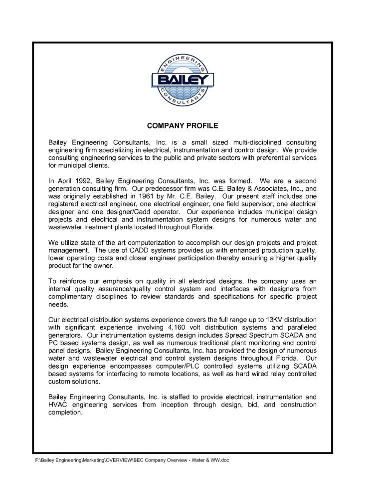 Sample Company Profile Cover Letter - Shishita-world.com