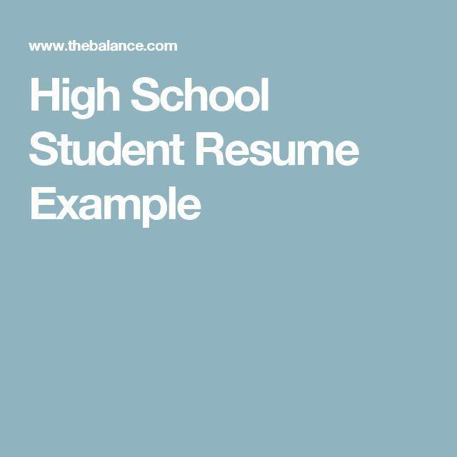 Best 25+ High school resume ideas on Pinterest | College teaching ...