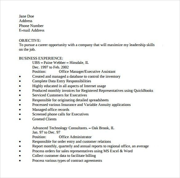 Sample Office Assistant Resume - 9+ Download Free Documents In PDF ...