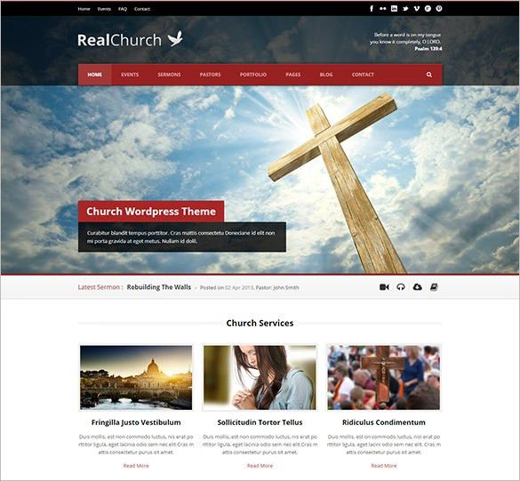31+ Church Website Themes & Templates | Free & Premium Templates