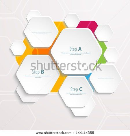Background Polygons Cut Paper Design Template Stock Vector ...