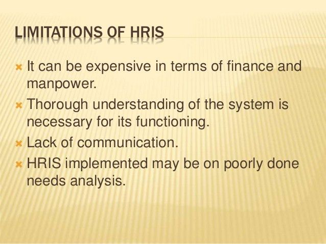 Human Resource Information System - HRIS