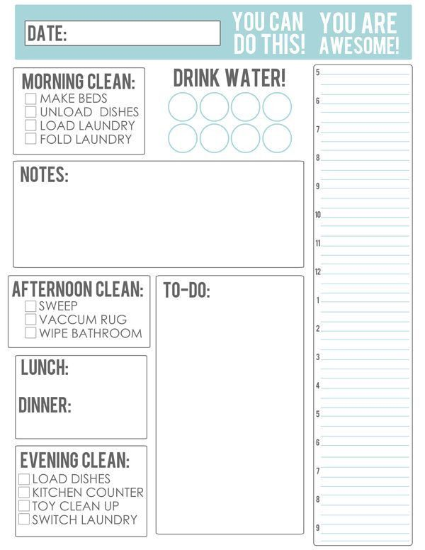 Best 25+ Daily planner printable ideas only on Pinterest | Daily ...
