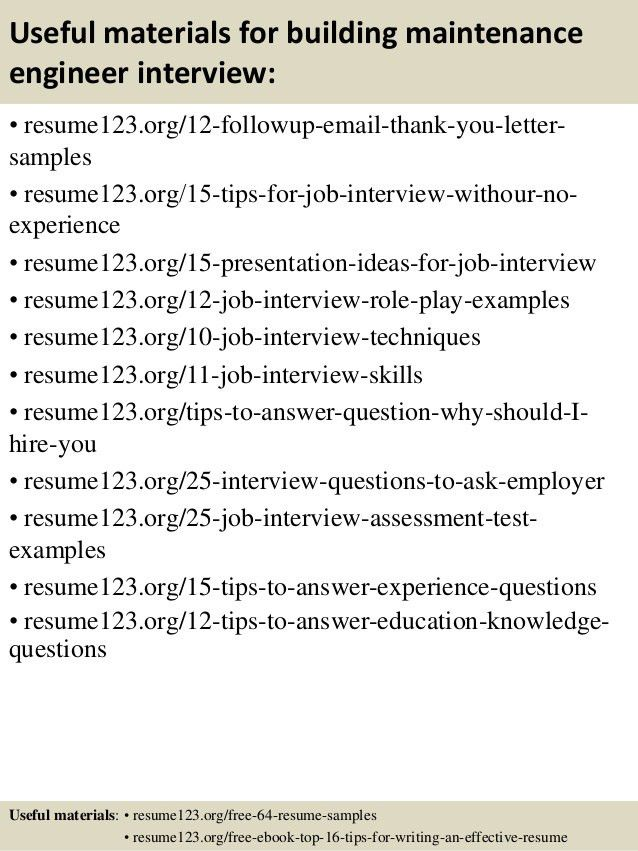 sample building maintenance resume building maintenance resume 19