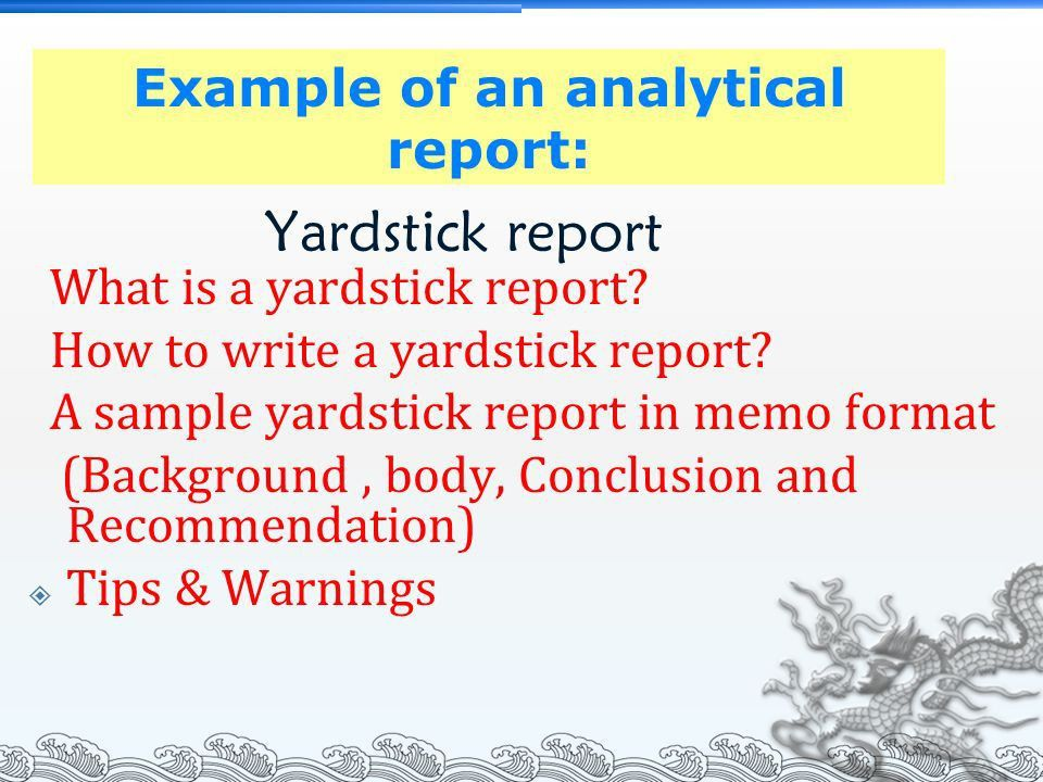 Chapter 7: Informational & Analytical Report - ppt video online ...