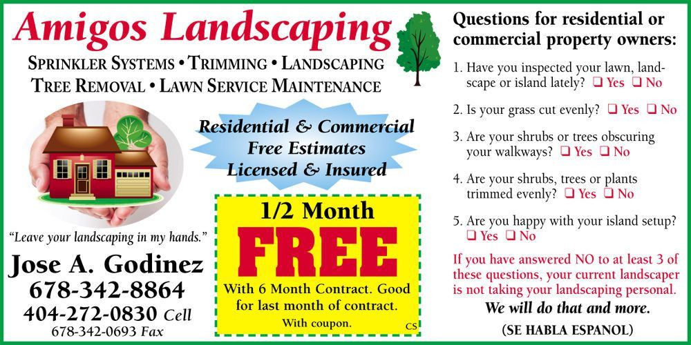 Amigos Landscaping CS Ad | News | rockdalenewtoncitizen.com