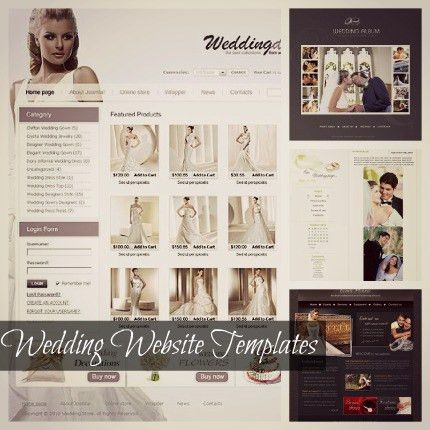 Wedding Shop Template | Blog Website Templates.bz