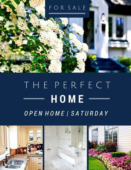 Open Home Real Estate Flyer - Templates by Canva