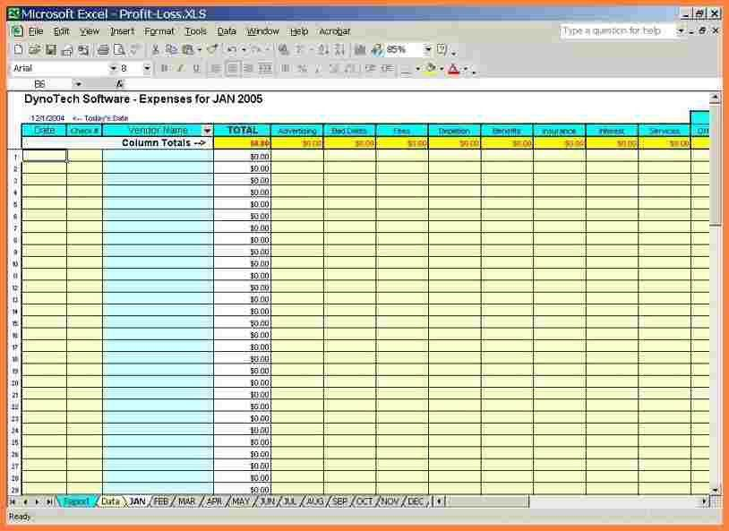 8+ free excel spreadsheet templates for small business | Costs ...