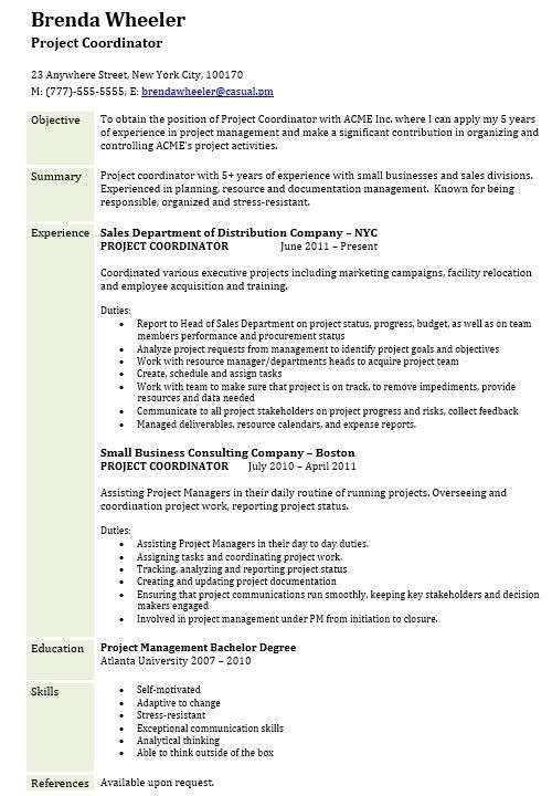 16 Free Sample Assistant Project Manager Resumes – Sample Resumes 2016