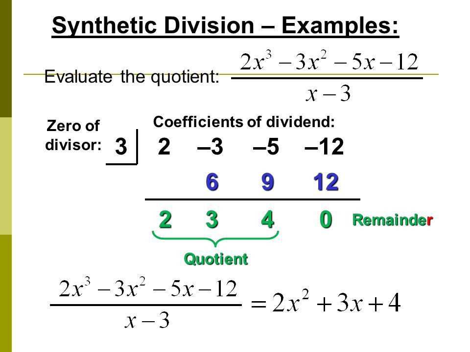 Long Division Algorithm and Synthetic Division!!! - ppt video ...