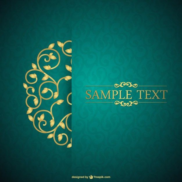 Green and floral vintage card Vector | Free Download