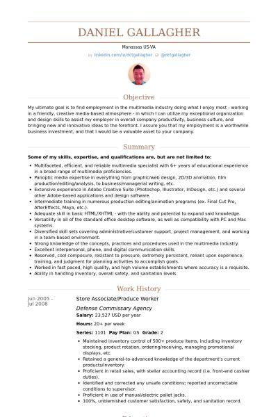 Store Associate Resume samples - VisualCV resume samples database