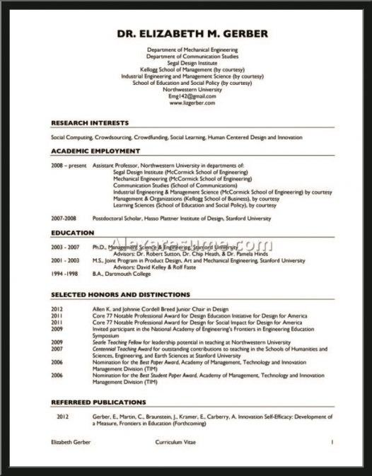 Mechanical Design Engineer Sample Resume
