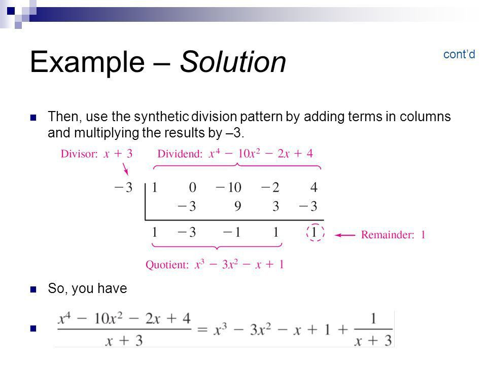 Polynomial and Synthetic Division - ppt video online download