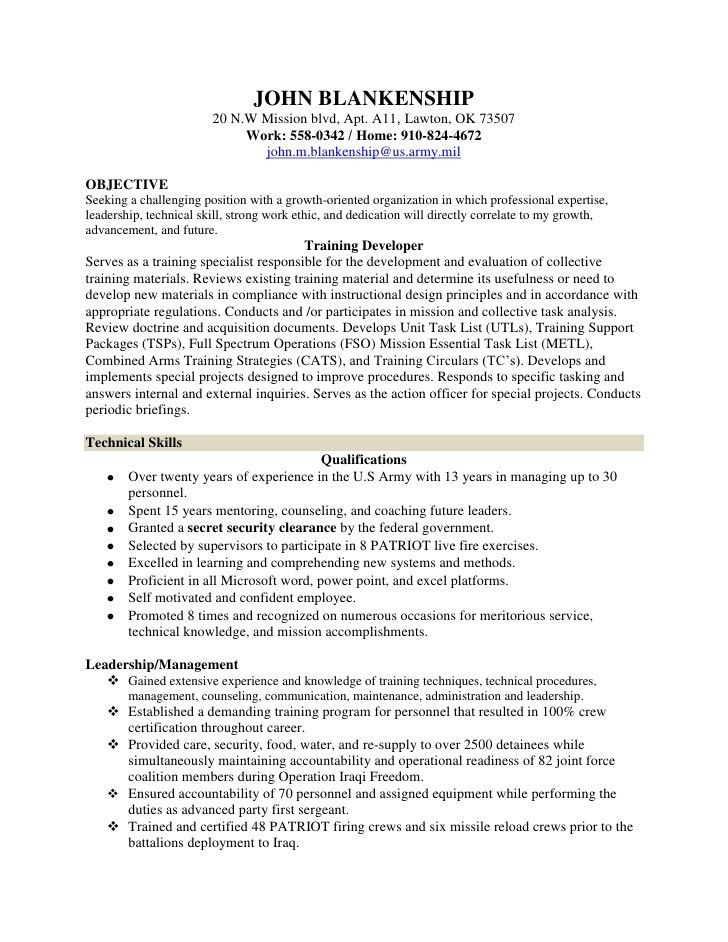 Putting Clearance On Resume - Contegri.com
