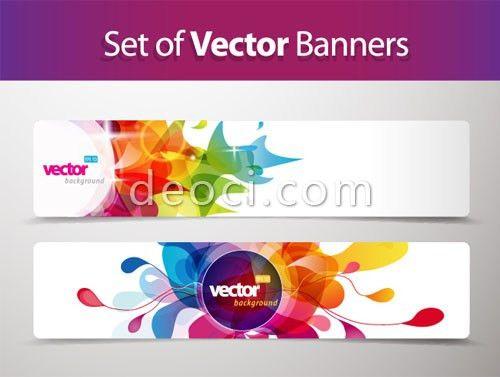 2 Banners advertising background template Illustrator design .eps ...