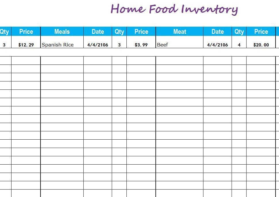 Inventory Templates | Free Inventory Templates