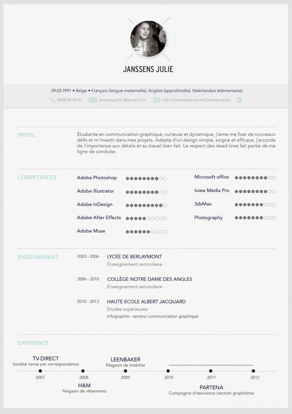 10 Stunning Creative CV Examples That Strike The Perfect Balance ...