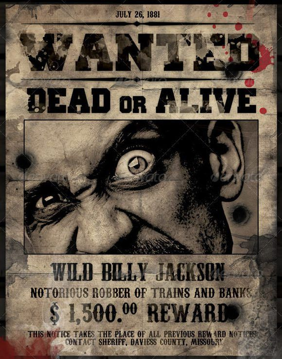 10 Best Images of Wanted Poster Template Photoshop - Free Wanted ...