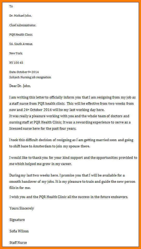 9+ nurses resignation letter samples | meal plan spreadsheet