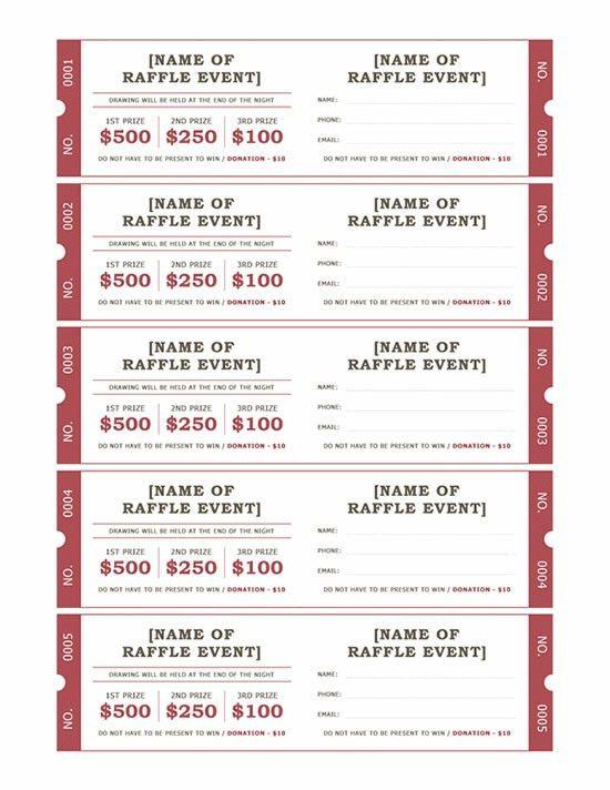 raffle ticket template printable