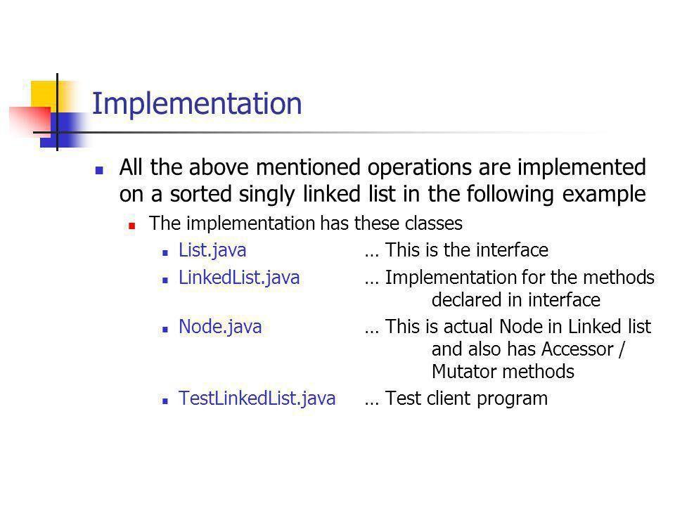 JAVA & Linked List Implementation - ppt download