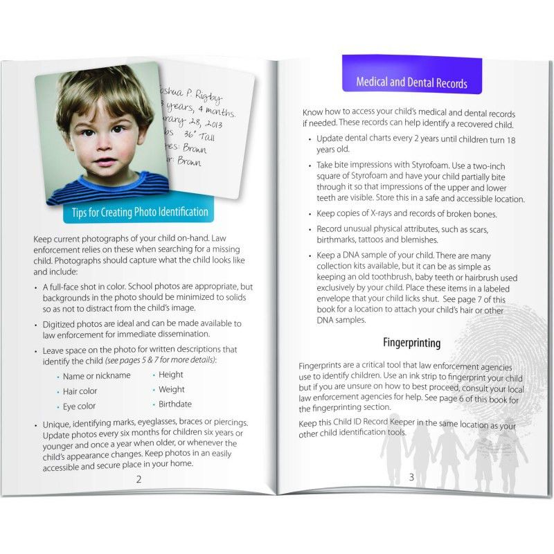 Book - Child ID Record Keeper