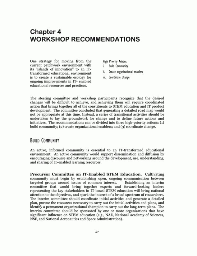 4. Workshop Recommendations | Information Technology (IT)-Based ...