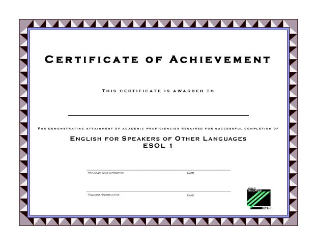 Printable template certificate of achievement for kids in pdf by ...