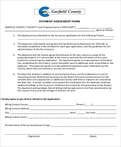 sample payment plan agreement template. simple payment agreement ...