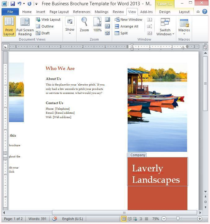 blank brochure template | Professional Templates