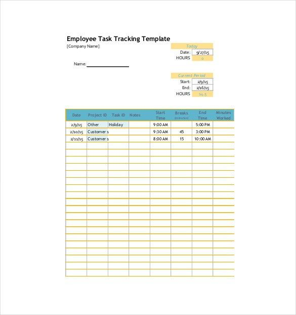 Task Tracking Template U2013 10+ Free Word, Excel, PDF Format Download .