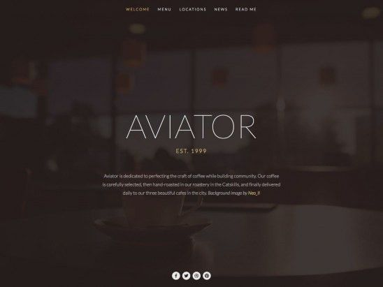 Aviator Squarespace Template Analysis - Using My Head