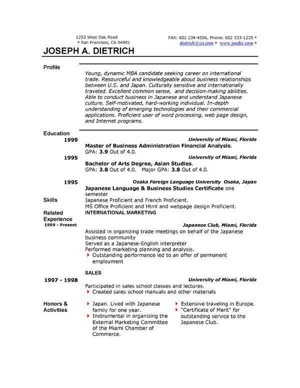 resume doc template resume format download pdf. sample resume ...