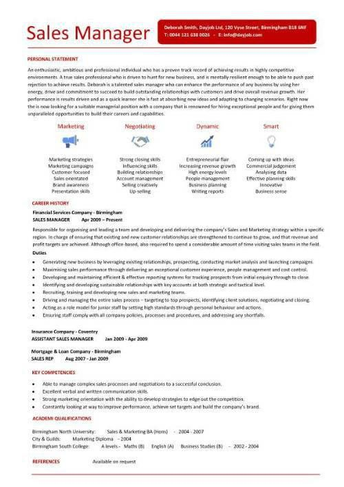 Resume Examples. best 10 sales manager resume template word free ...