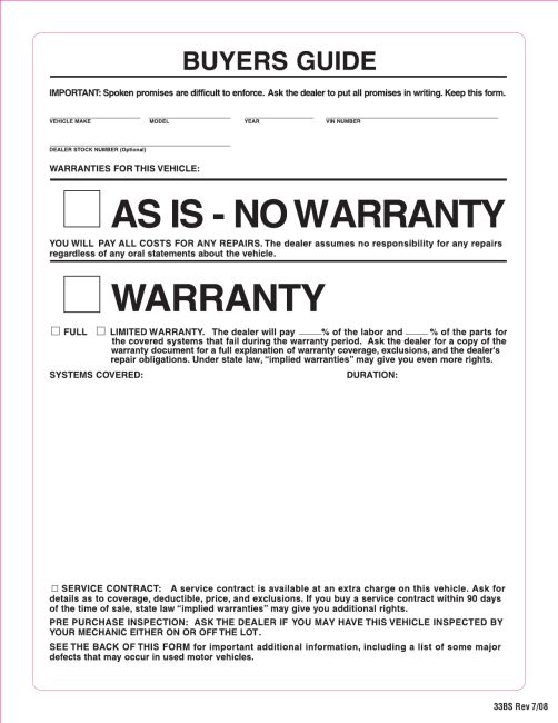 Window Stickers Order Form - Automotive Valuation and Marketing ...