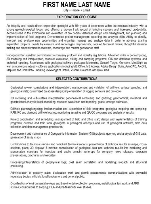 entomology scientist resume cv sample for an ecologist