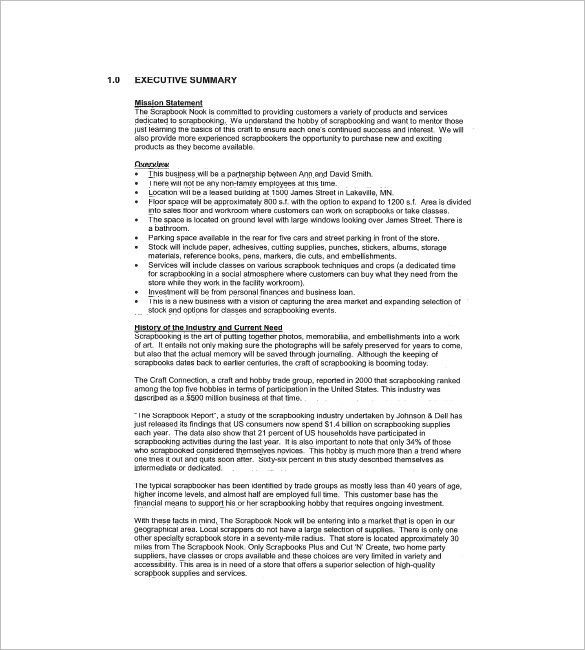 Retail Business Plan Template – 7+ Free Word, Excel, PDF Format ...
