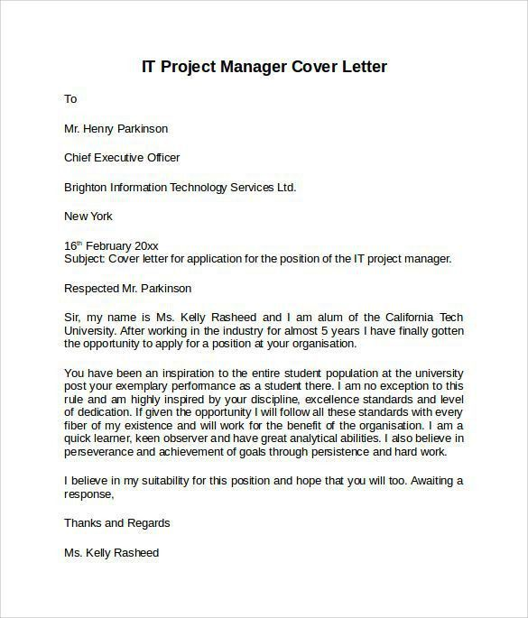 Information Technology Cover Letter Template. Resume Membership ...