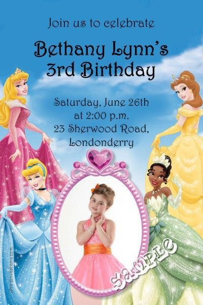176 best princess theme invitations images on Pinterest | Princess ...