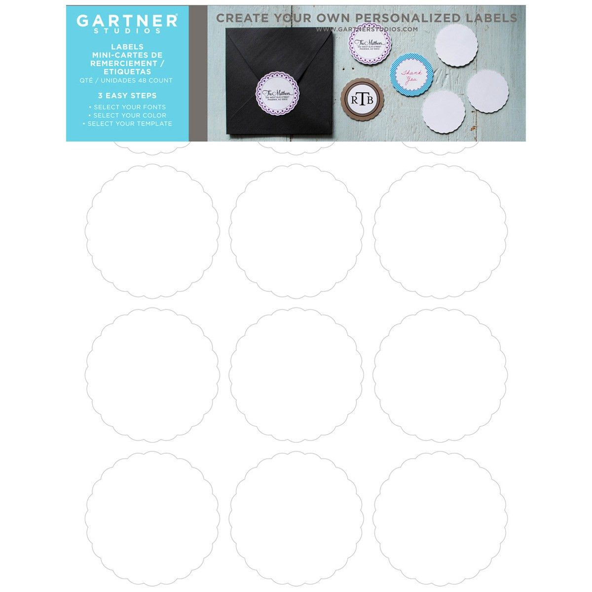 Gartner® Studios Scallop Circle Favor Labels