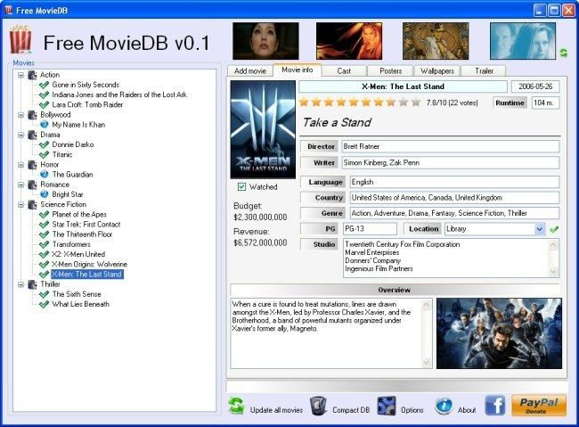 Freeware Download: Movie Database Excel Template