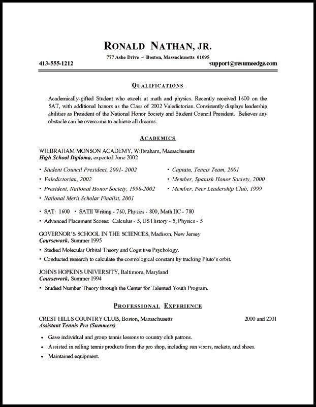 resume student template first year student college resume pdf free ...
