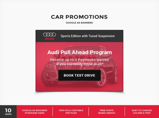 Download CarPro - Car Promotions Google Ad Banner PSD Template ...