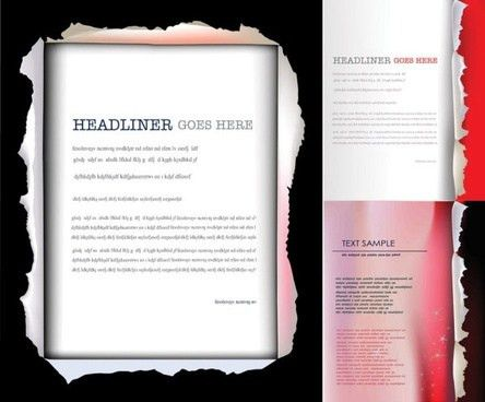 Cover page template for report free vector download (96,372 Free ...
