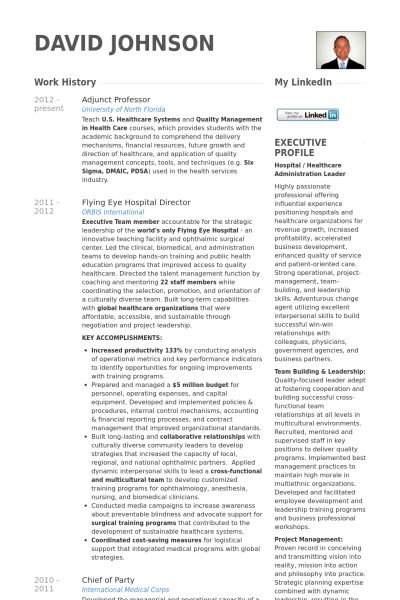 Professor Resume samples - VisualCV resume samples database