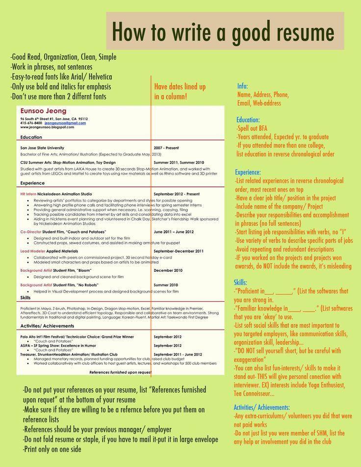 Best 25+ Good resume ideas on Pinterest   Resume, Resume words and ...