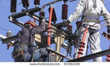 Utility Pole Worker Stock Images, Royalty-Free Images & Vectors ...