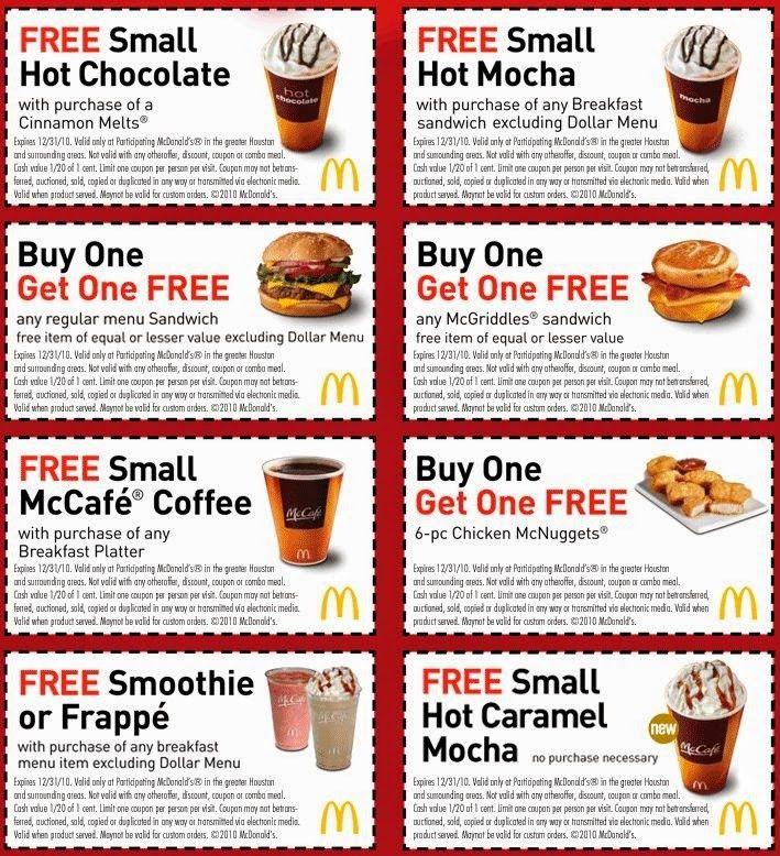 Printable McDonald's Coupons